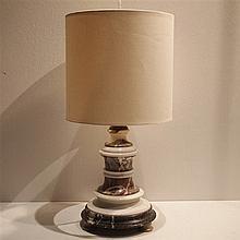Lampe de table marbre vers 1930, H sans abat-jour: 36 cm