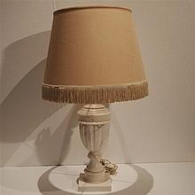 Lampe de table vers 1980 : Albatre
