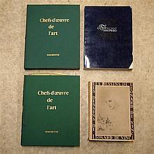 Lot de 4 livres : Chef d'œuvre de l'art (11 et 12) et l'Art nouveau en Belg