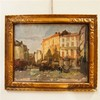 Logelain Henri (1889-1968) : Huile sur toile marouflée sur panneau, vue d'u, Henri Logelain, €180
