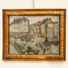 Logelain Henri (1889-1968) : Huile sur panneau, vue de Bruxelles colonne du, Henri Logelain, €180