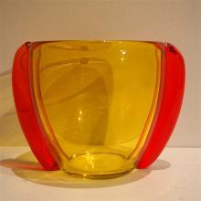 Furlan Marcello (1962) / Murano : Vase ovoide avec oreilles, verre soufflé