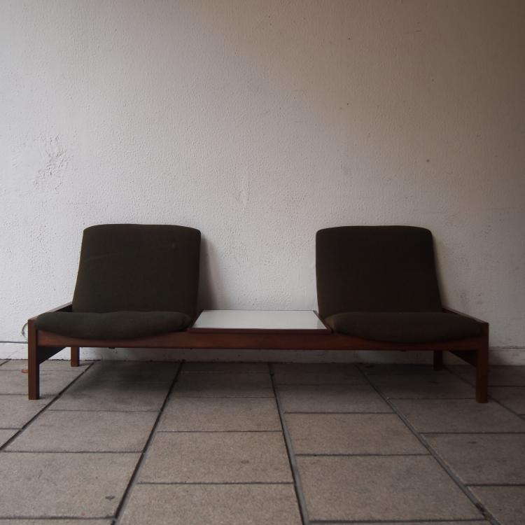 van rijck georges attribu beaufort banquette 2 places a. Black Bedroom Furniture Sets. Home Design Ideas