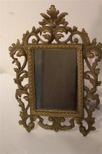 Ornate Design Cast Iron Frame with Mirror