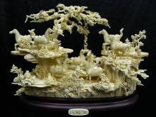 Bone Saddled Tang Horses Mountain