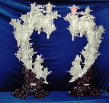 Large Pair Of Bone Lanterns