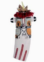 Bear Warrior Kachina Doll Hopi Vintage Flat Wall Style