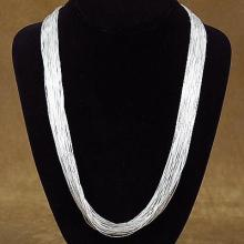 Native American Liquid Silver Necklace 40 Strands