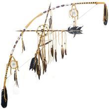 Medicine Wheel Bow Crossed Arrows Set Southwest Decor