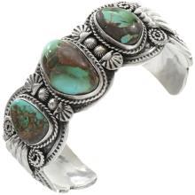 Royston Turquoise Santa Fe Bracelet Navajo Handmade Cuff