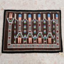 Navajo Yei Bi Chei Wool Rug Vintage Handwoven 30