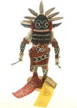 Hopi Black Ogre Kachina Doll Inter-tribal Award Winner 1971