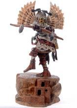 Hopi Kachina Doll Owl Dancer By Navajo Carver Milton Howard