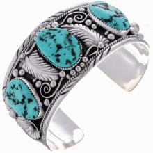 Navajo Big Boy Bracelet Mens Turquoise Silver Cuff
