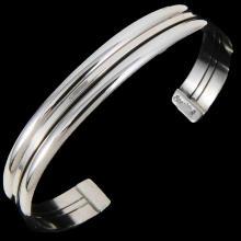 Sterling Silver Cuff Bracelet by Navajo Tahe