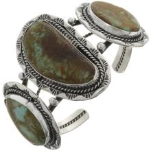 Native American Cuff Turquoise Silver Bracelet