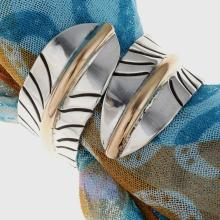 Gold Silver Scarf Ring Navajo Ladies Bypass Feather Design