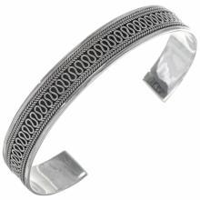 Southwest Fancy Wire Silver Cuff Handmade Bracelet