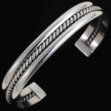 Sterling Silver Cuff Navajo Bracelet by Tahe