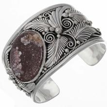Navajo Big Boy Wild Horse Cuff Wide Sterling Bracelet