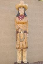 6 Foot Cigar Store Calamity Jane by Native American Frank Gallagher