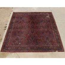 Antique Persian Wool Rug Traditional Patterned 11 x 12 Feet