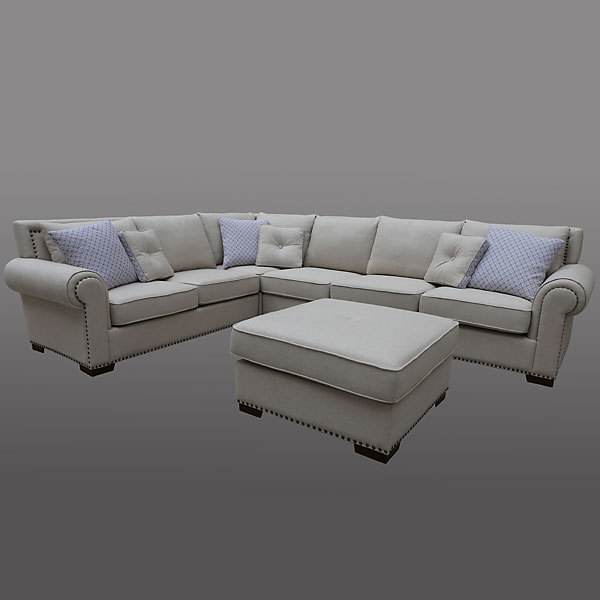 Sectional Couches Las Vegas Nv: Grey Sectional W/Ottoman