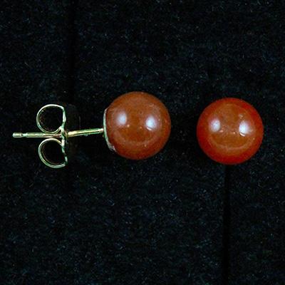 Untreated Red Jadeite Jade Earrings