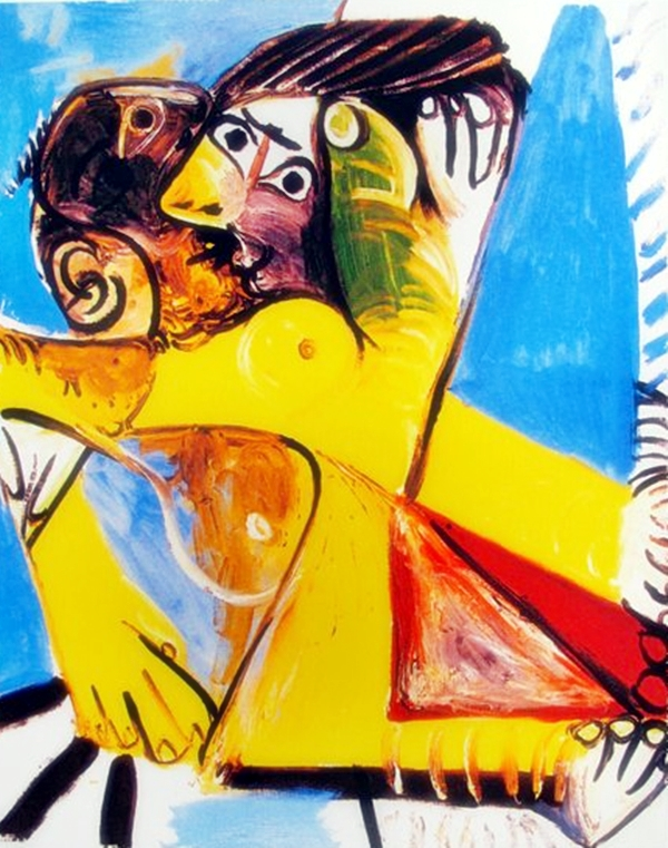 Pablo Picasso #081 Embrace To Kiss