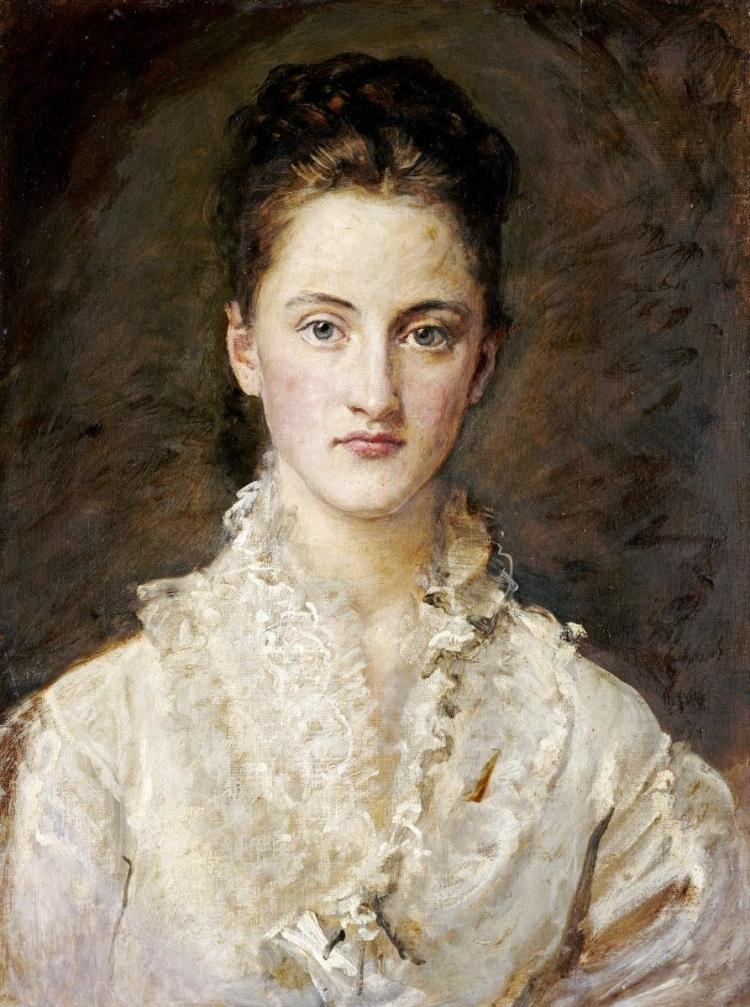 JOHN EVERETT MILLAIS - PORTRAIT OF THE ARTIST'S DAUGHTER