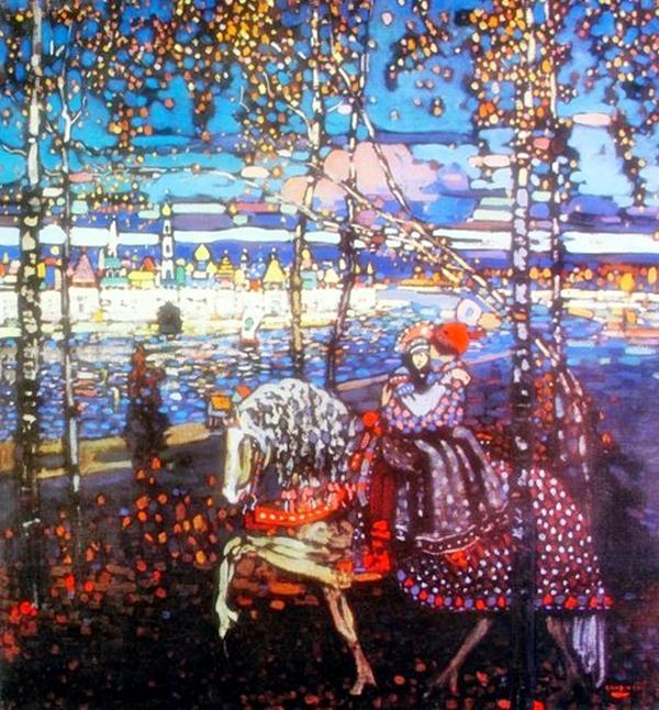 Wassily Kandinsky Couple Riding