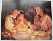 Alan Murray Three Wishes Limited Edition Lithograph Birthday Art