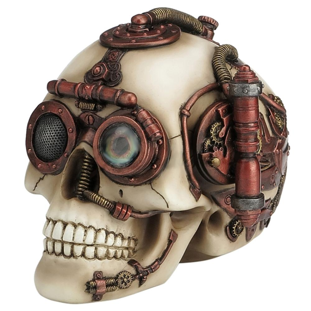Steampunk Skull With Secret Drawer Trinket Box