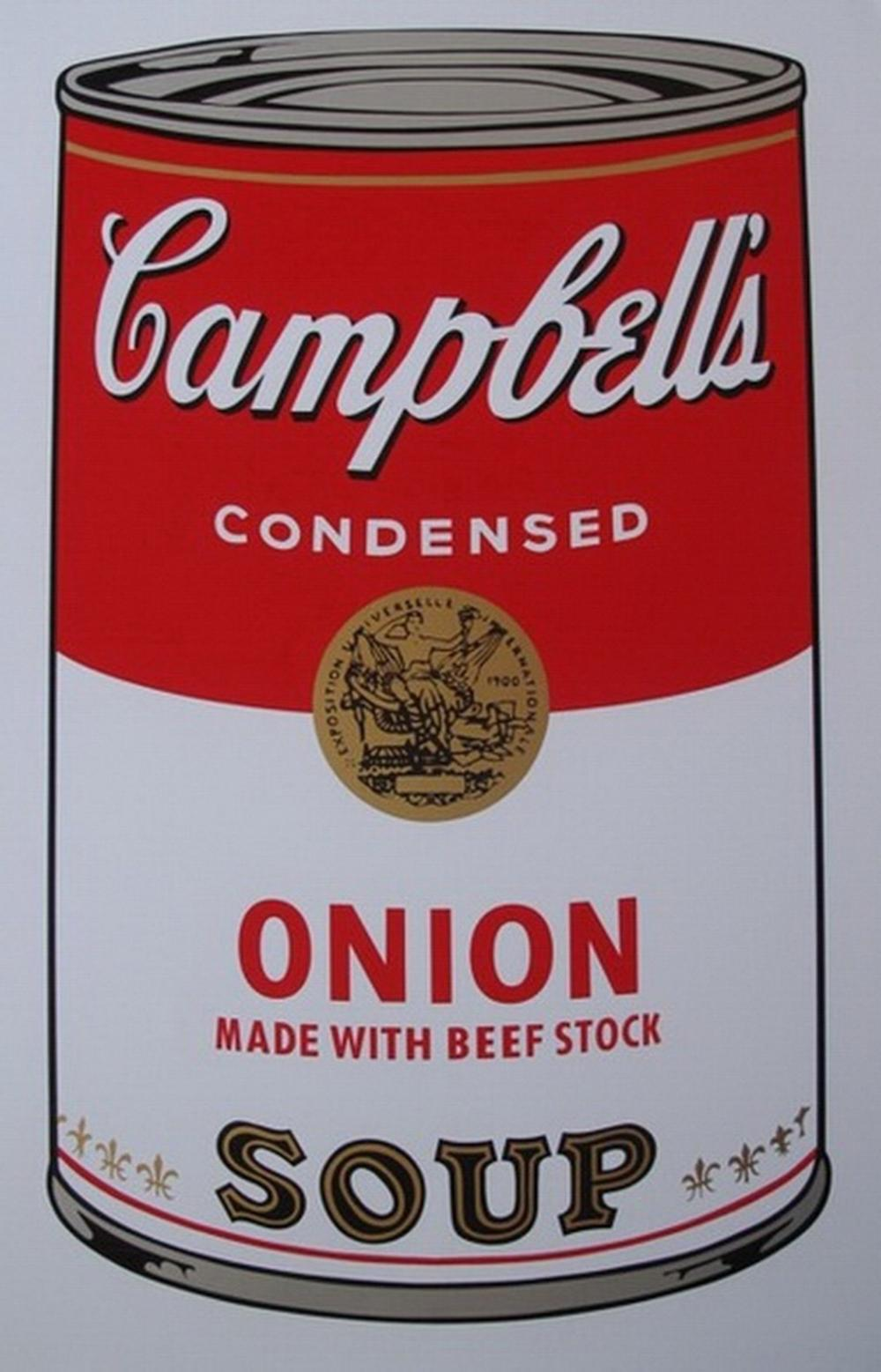 ANDY WARHOL ONION SOUP CAN