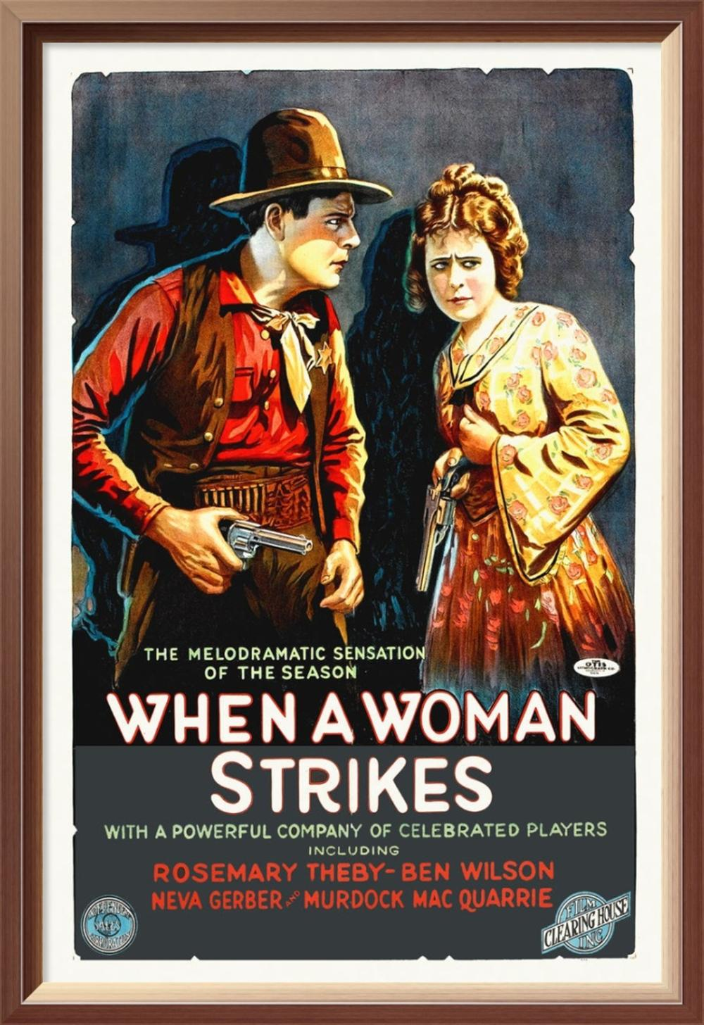 HOLLYWOOD PHOTO ARCHIVE - WHEN A WOMAN STRIKES, 1919