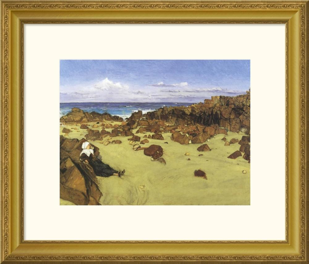 JAMES MCNEILL WHISTLER - THE COAST OF BRITTANY OR ALONE WITH THE TIDE 1861