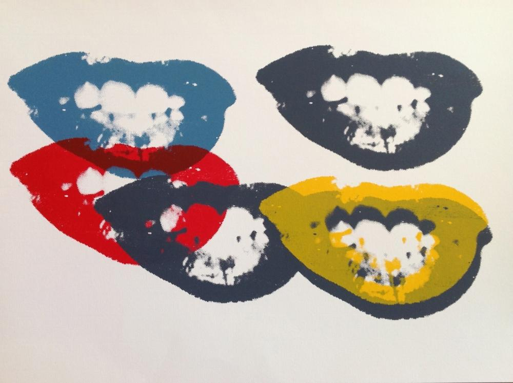 "After Andy Warhol  ""I Love Your Kiss Forever Forever"""