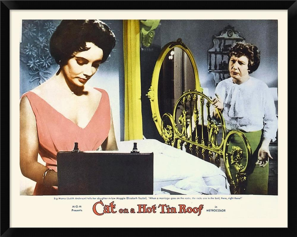 HOLLYWOOD PHOTO ARCHIVE - ELIZABETH TAYLOR - CAT ON A HOT TIN ROOF - LOBBY CARD