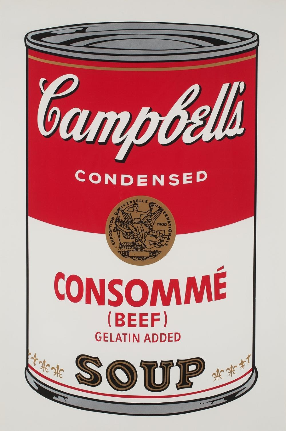 ANDY WARHOL CONSOMME SOUP CAN