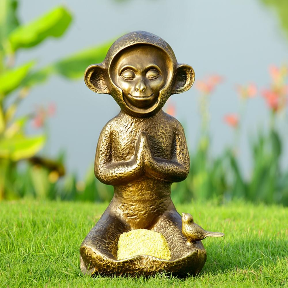 Meditating Monkey Birdfeeder