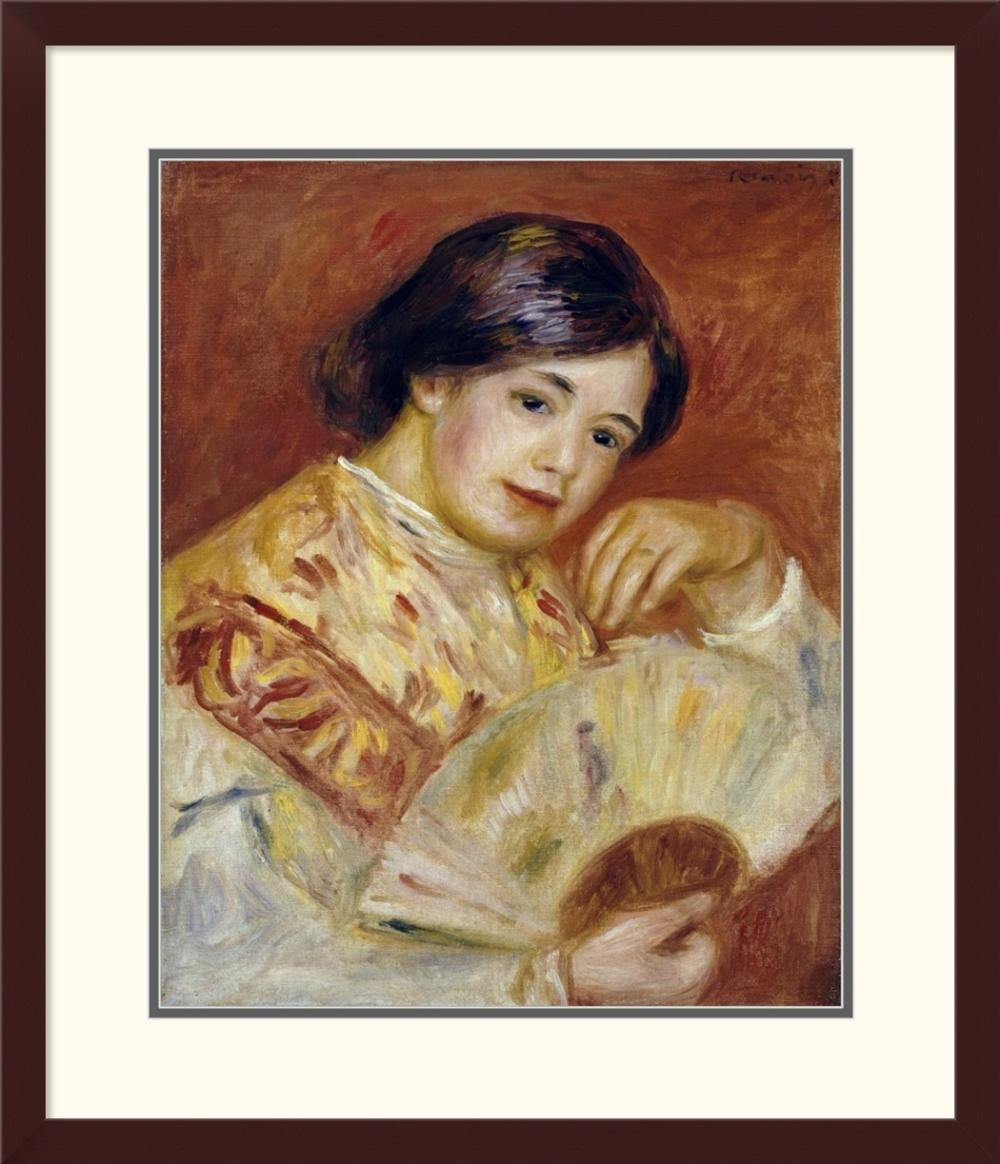 PIERRE-AUGUSTE RENOIR - COCO WITH A JAPANESE FAN