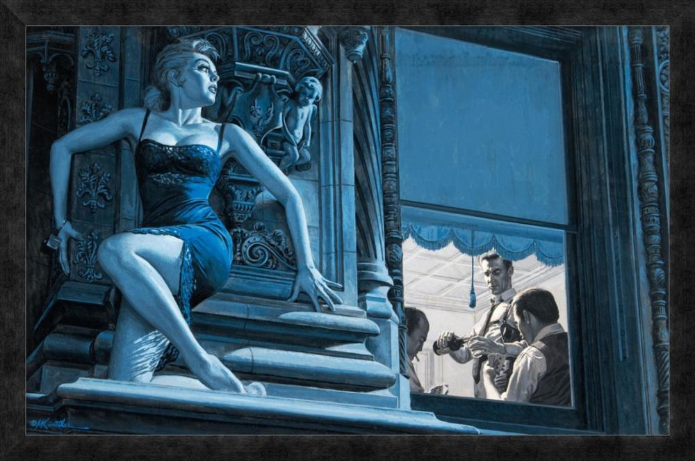 Mort Kunstler - British Girl Out on a Ledge