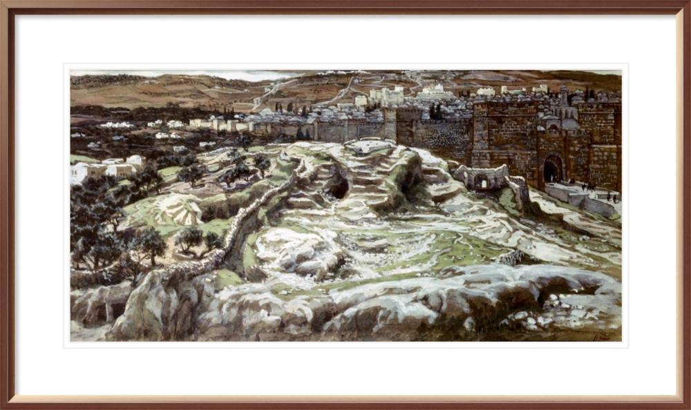 JAMES TISSOT - CALVARY FROM THE WALLS OF HEROD'S PALACE