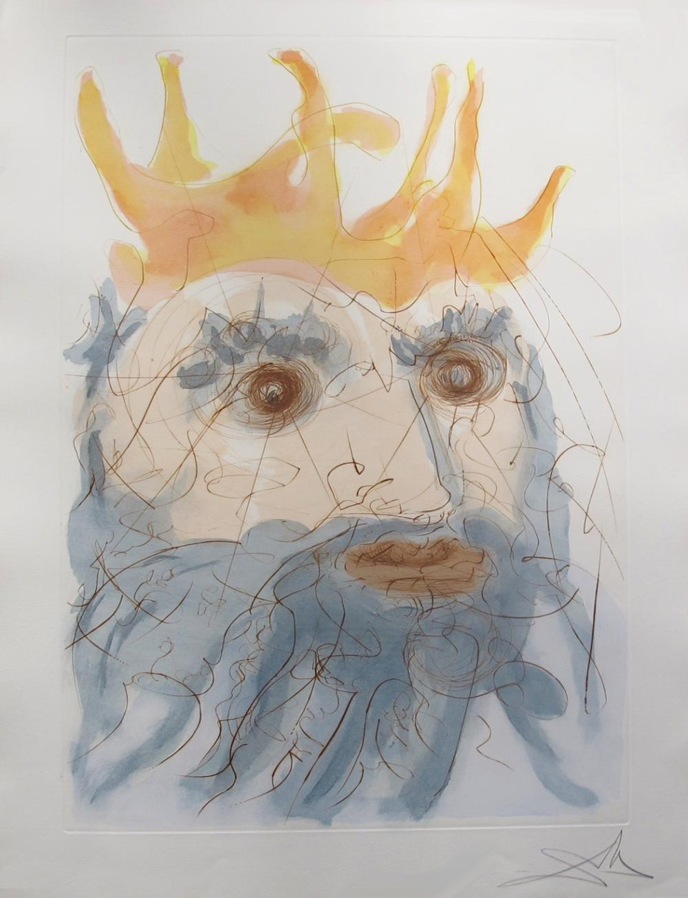 Salvador Dali King Saul From Our Historical Heritage Suite