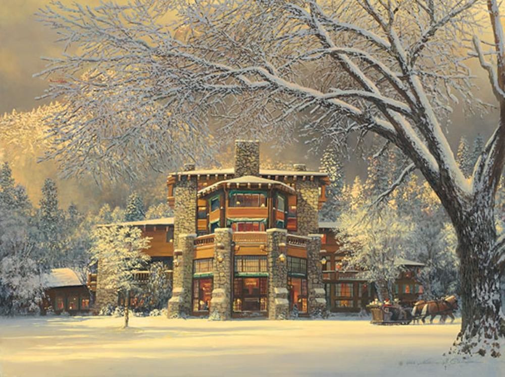 William S. Phillips…Christmas Eve At The Ahwahnee