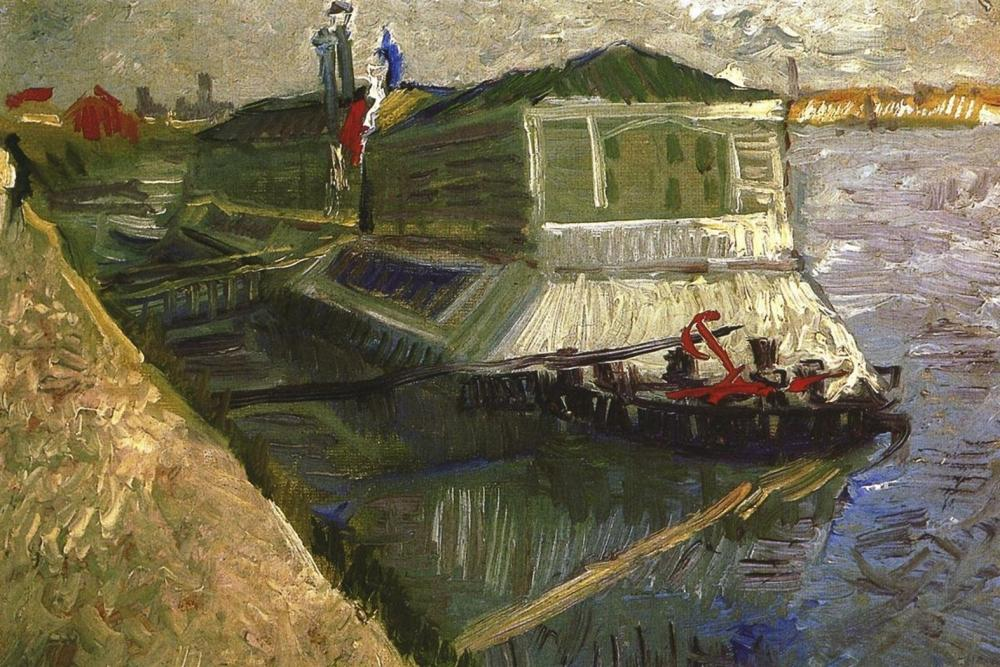 VINCENT VAN GOGH - BATHING FLOAT ON SEINE