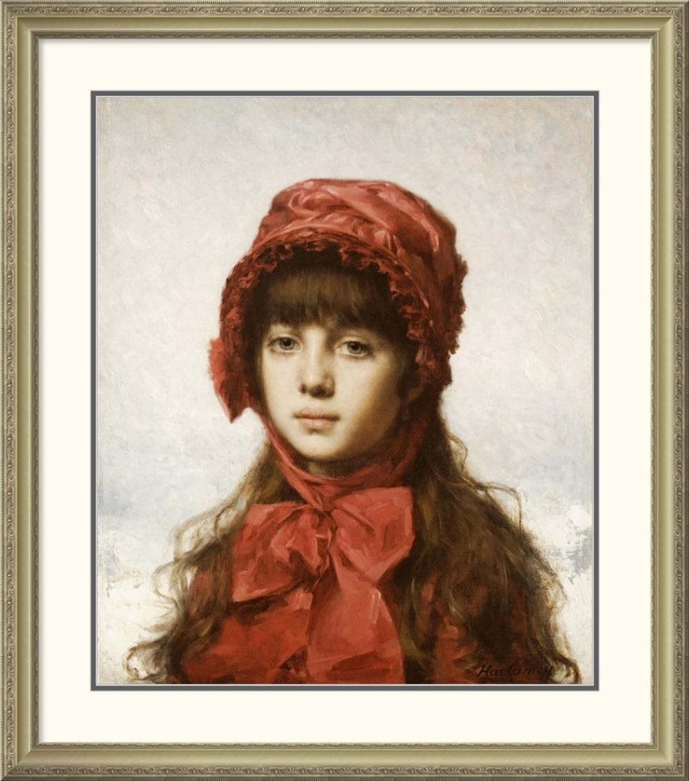 ALEXEI ALEXEIEWITSCH HARLAMOFF - THE RED BONNET