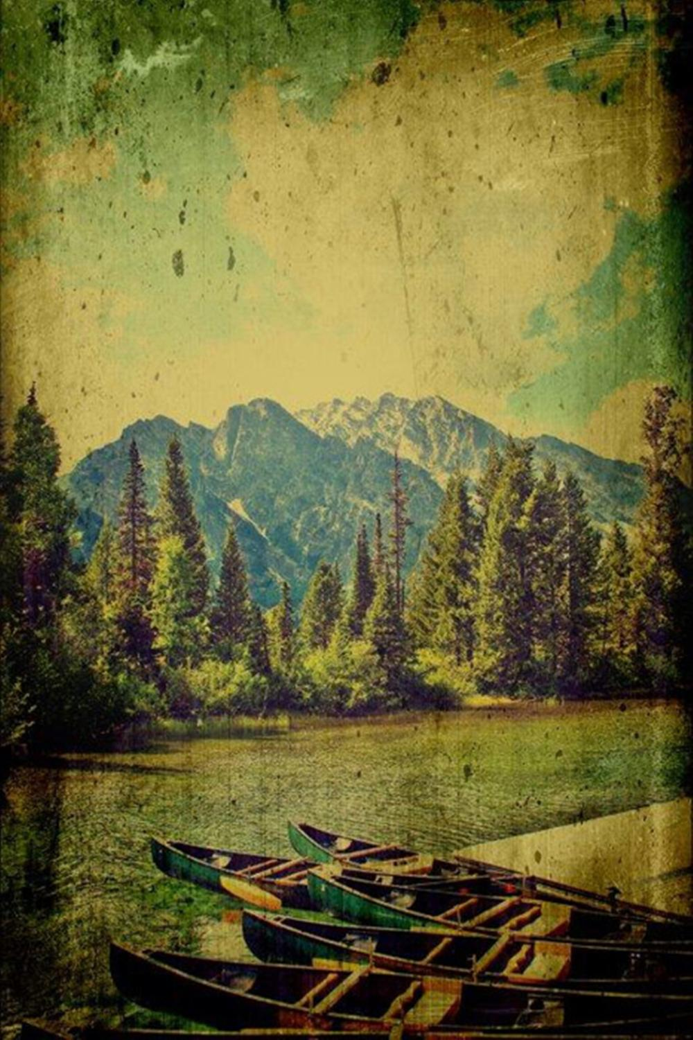 Mark A. Cole…Canoes In The Mountains
