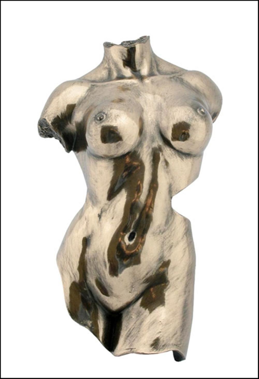 WALL PLAQUE FEMALE TORSO Art