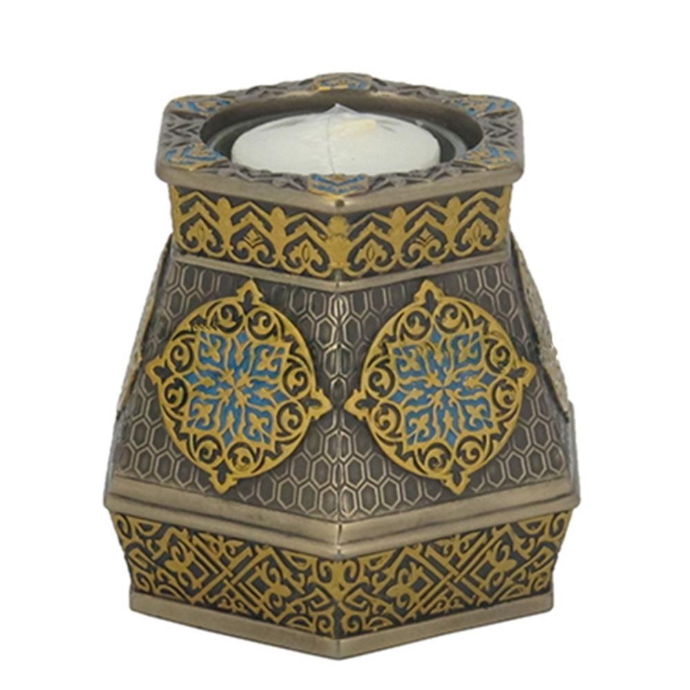 Arabesque Pattern Hexagonal Tea Light Holder